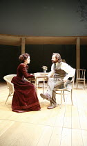 UNCLE VANYA   by Anton Chekhov   translated by Stephen Mulrine   ,design: Alison Chitty   lighting: Peter Mumford   director: Peter Hall <br>,Michelle Dockery (Yelena), Neil Pearson (Astrov),English T...
