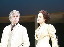 UNCLE VANYA   by Anton Chekhov   translated by Stephen Mulrine   design: Alison Chitty   lighting: Peter Mumford   director: Peter Hall <br>,Nicholas Le Prevost (Vanya), Michelle Dockery (Yelena),Engl...