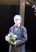 UNCLE VANYA   by Anton Chekhov   translated by Stephen Mulrine   ,design: Alison Chitty   lighting: Peter Mumford   director: Peter Hall <br>,Vanya arrives with flowers for Yelena: Nicholas Le Prevost...