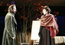 UNCLE VANYA   by Anton Chekhov   translated by Stephen Mulrine   design: Alison Chitty   lighting: Peter Mumford   director: Peter Hall <br>,Neil Pearson (Astrov), Michelle Dockery (Yelena),English To...