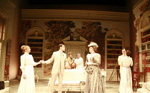THE IMPORTANCE OF BEING EARNEST   by Oscar Wilde   design: William Dudley   director: Peter Gill <br>,l-r: Daisy Haggard (Gwendolyn Fairfax), Harry Hadden-Paton (Jack Worthing/Earnest), Janet Henfry (...