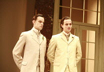 THE IMPORTANCE OF BEING EARNEST   by Oscar Wilde   design: William Dudley   director: Peter Gill <br>,l-r: Harry Hadden-Paton (Jack Worthing/Earnest), William Ellis (Algernon Moncrieff),Vaudeville The...