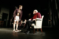 THE COLLECTION   by Harold Pinter   director: Jamie Lloyd <br>,front, l-r: Charlie Cox (Bill), Timothy West (Harry)  ,Comedy Theatre / London SW1                       29/01/2008     ,