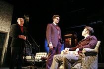 THE COLLECTION   by Harold Pinter   director: Jamie Lloyd <br>,l-r: Timothy West (Harry), Richard Coyle (James), Charlie Cox (Bill)  ,Comedy Theatre / London SW1                       29/01/2008     ,
