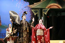 THE MIKADO   or   The Town of Titipu   music: Arthur Sullivan   lyrics: W S Gilbert   conductor: Martin Handley   director: Peter Mulloy <br>,l-r: Steven Page (Pish-Tush), Alistair McGowan (The Mikado...