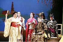 THE MIKADO   or   The Town of Titipu   music: Arthur Sullivan   lyrics: W S Gilbert   conductor: Martin Handley   director: Peter Mulloy <br>,from left, l-r: Sophie-Louise Dann (Pitti-Sing), Steven Pa...