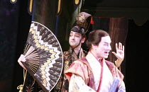 THE MIKADO   or   The Town of Titipu   music: Arthur Sullivan   lyrics: W S Gilbert   conductor: Martin Handley   director: Peter Mulloy <br>,l-r: Alistair McGowan (The Mikado of Japan), Steven Page (...