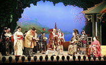 THE MIKADO   or   The Town of Titipu   music: Arthur Sullivan   lyrics: W S Gilbert   conductor: Martin Handley   director: Peter Mulloy <br>,from front left, l-r: Sophie-Louise Dann (Pitti-Sing), Bru...