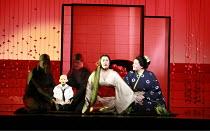 MADAM BUTTERFLY   by Puccini   conductor: David Parry   set design: Michael Levine   costumes: Han Feng   ,lighting: Peter Mumford   associate/revival director & choreographer: Carolyn Choa   original...