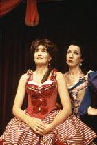 PLAYHOUSE CREATURES   by April De Angelis   director: Sue Parrish <br>,l-r: Fleur Bennett (Nell Gwyn), Geraldine Fitzgerald (Rebecca Marshall)   ,Lyric Hammersmith (LTH), London W6...