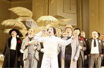 THE MIKADO   by Gilbert & Sullivan   conductor: David Parry   set design: Stefanos Lazaridis   costume design: Sue Blane   original director: Jonathan Miller <br>,front centre, l-r: Richard Burkhard (...