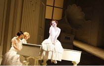 THE MIKADO   by Gilbert & Sullivan   conductor: David Parry   set design: Stefanos Lazaridis   costume design: Sue Blane   original director: Jonathan Miller <br>,Three Little Maids - l-r: Anna Grevel...