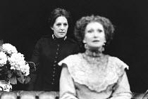 MAJOR BARBARA   by George Bernard Shaw   design: Alison Chitty   director: Peter Gill <br>,l-r: Penelope Wilton (Major Barbara Undershaft), Sian Phillips (Lady Britomart)    ,Lyttelton Theatre / Natio...