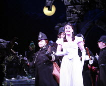 THE PIRATES OF PENZANCE or The Slave of Duty   music: Arthur Sullivan   lyrics: W S Gilbert   ,conductor: Richard Balcombe   directed & designed by Peter Mulloy <br>,l-r: Jo Brand (Sergeant of Police)...