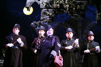 THE PIRATES OF PENZANCE or The Slave of Duty   music: Arthur Sullivan   lyrics: W S Gilbert   conductor: Richard Balcombe   directed & designed by Peter Mulloy <br>,centre: Jo Brand (Sergeant of Polic...