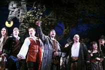 THE PIRATES OF PENZANCE or The Slave of Duty   music: Arthur Sullivan   lyrics: W S Gilbert   ,conductor: Richard Balcombe   directed & designed by Peter Mulloy <br>,l-r, from 3rd left: David Curry (F...