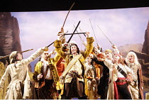 THE PIRATES OF PENZANCE or The Slave of Duty   music: Arthur Sullivan   lyrics: W S Gilbert   ,conductor: Richard Balcombe   directed & designed by Peter Mulloy <br>,centre: Steven Page (The Pirate Ki...
