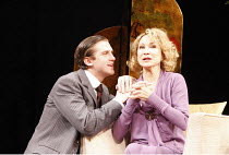 THE VORTEX   by Noel Coward   design: Alison Chitty   director: Peter Hall <br>,Felicity Kendal (Florence Lancaster), Dan Stevens (Nicky Lancaster),Apollo Theatre, London W1    26/02/2008           ,