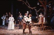 TWELFTH NIGHT   by Shakespeare   design: Robin Don   director: John Caird <br>,front, l-r: Joanne Pearce (Olivia), Graham Sinclair (Antonio), Nigel Cooke (Sebastian), Zoe Wanamaker (Viola), Miles Ande...
