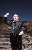 TWELFTH NIGHT   by Shakespeare   design: Robin Don   director: John Caird <br>,Emrys James (Malvolio)   ,Royal Shakespeare Company (RSC) / Barbican Theatre, London EC2   22/08/1984      ,