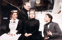 TWELFTH NIGHT   by Shakespeare   design: Bunny Christie   director: Kenneth Branagh <br>,l-r: Abigail McKern (Maria), Richard Briers (Malvolio), Caroline Langrishe (Olivia), Frances Barber (Viola) ,Re...