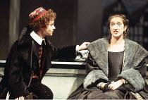 TWELFTH NIGHT   by Shakespeare   set design: John Gunter   costumes: Deirdre Clancy   director: Ian Judge <br>,l-r: Emma Fielding (Viola), Haydn Gwynne (Olivia),Royal Shakespeare Company / Royal Shake...