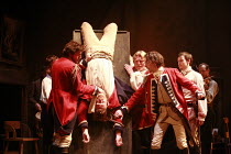 "I""LL BE THE DEVIL   by Leo Butler   design: Lizzie Clachan   director: Ramin Gray <br>,l-r: Edward Mcliam (Captain Farrell), Colm Gormley (Lance Corporal Finnigan), Gerard Murphy (Sergeant Brown). J D..."