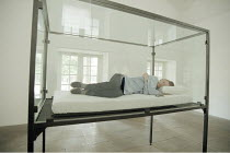 THE MAYBE   conceived & performed by Tilda Swinton   ,in an installation created by Cornelia Parker  ,Serpentine Gallery, Kensington Gardens, London W2   04>10 /09/1995,