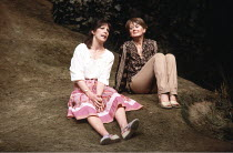 SISTERLY FEELINGS   by Alan Ayckbourn   directors: Alan Ayckbourn & Christopher Morahan,l-r: Penelope Wilton (Abigail), Anna Carteret (Dorcas),Olivier Theatre / National Theatre, London SE1      03/06...