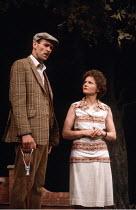 INTIMATE EXCHANGES   by Alan Ayckbourn   ,designer: Edward Lipscomb   director: Alan Ayckbourn <br>,Robin Herford, Lavinia Bertram,Greenwich Theatre, London SE10              11/06/1984,