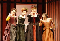 FALSTAFF   by Verdi   after Shakespeare^s ^The Merry Wives of Windsor^   conductor: Carlo Rizzi   ,set design: Lucio Fanti   costumes: Moidele Bickel   director: Peter Stein <br>,l-r: Imelda Drumm (Me...