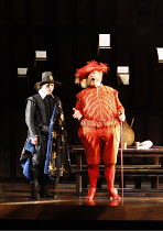 FALSTAFF   by Verdi   after Shakespeare^s ^The Merry Wives of Windsor^   ,conductor: Carlo Rizzi   set design: Lucio Fanti   ,costumes: Moidele Bickel   director: Peter Stein <br>,l-r: Christopher Pur...