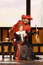 FALSTAFF   by Verdi   after Shakespeare^s ^The Merry Wives of Windsor^   ,conductor: Carlo Rizzi   set design: Lucio Fanti   ,costumes: Moidele Bickel   director: Peter Stein <br>,Janice Watson (Alice...