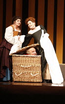 FALSTAFF   by Verdi   after Shakespeare^s ^The Merry Wives of Windsor^   ,conductor: Carlo Rizzi   set design: Lucio Fanti   ,costumes: Moidele Bickel   director: Peter Stein <br>,l-r: Anne-Marie Owen...