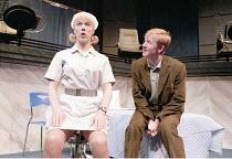 COMIC POTENTIAL   by Alan Ayckbourn   set design: Roger Glossop   costumes: Christine Wall   director: Alan Ayckbourn <br>,Janie Dee (Jacie Triplethree), Matthew Cottle (Adam Trainsmith),Lyric Theatre...