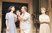 HOUSE   ^House/Garden^   by Alan Ayckbourn   set design: Roger Glossop   costumes: Christine Wall   director: Alan Ayckbourn <br>,l-r: Zabou Brightman (Lucille Cadeau), David Haig (Teddy Platt), Jane...