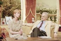 HOUSE   ^House/Garden^   by Alan Ayckbourn   set design: Roger Glossop   costumes: Christine Wall   director: Alan Ayckbourn <br>,Jane Asher (Trish Platt), Malcolm Sinclair (Gavin Ryng-Mayne),Lyttelto...