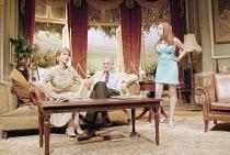 HOUSE   ^House/Garden^   by Alan Ayckbourn   set design: Roger Glossop   costumes: Christine Wall   director: Alan Ayckbourn <br>,l-r: Jane Asher (Trish Platt), Malcolm Sinclair (Gavin Ryng-Mayne), Ch...