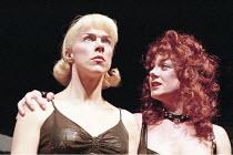 COMIC POTENTIAL   by Alan Ayckbourn   set design: Roger Glossop   costumes: Christine Wall   director: Alan Ayckbourn <br>,l-r: Janie Dee (Jacie Triplethree), Helen Pearson (Prostitute),Lyric Theatre,...