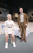 COMIC POTENTIAL   by Alan Ayckbourn   ,set design: Roger Glossop   costumes: Christine Wall   director: Alan Ayckbourn <br>,Janie Dee (Jacie Triplethree), Matthew Cottle (Adam Trainsmith),Lyric Theatr...