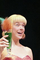 COMIC POTENTIAL   by Alan Ayckbourn   ,set design: Roger Glossop   costumes: Christine Wall   director: Alan Ayckbourn <br>,Janie Dee (Jacie Triplethree),Lyric Theatre, London W1     13/10/1999,