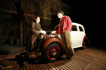 THE MAN WHO HAD ALL THE LUCK   by Arthur Miller   set design: Paul Willis   lighting: Paule Constable   director: Sean Holmes <br>,Michelle Terry (Hester Falk), Andrew Buchan (David Beeves),Donmar War...