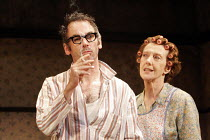 THE BIRTHDAY PARTY  by Harold Pinter  director: Lindsay Posner ~Paul Ritter (Stanley), Eileen Atkins (Meg)~Duchess Theatre, London WC2  25/04/2005~(c) Donald Cooper/Photostage   photos@photostage.co.u...