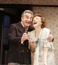 THE BIRTHDAY PARTY  by Harold Pinter  director: Lindsay Posner ~Henry Goodman (Goldberg), Eileen Atkins (Meg)~Duchess Theatre, London WC2  25/04/2005~(c) Donald Cooper/Photostage   photos@photostage.c...