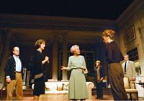 'A DELICATE BALANCE' (Albee)~l-r: John Standing (Tobias), Eileen Atkins (Agnes), Annette Crosbie (Edna), Maggie Smith (Claire), Sian Thomas (Julia), James Laurenson (Harry)~Theatre Royal, Haymarket  L...