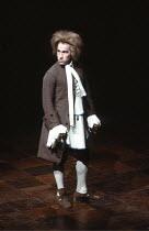 AMADEUS   by Peter Shaffer   design & lighting: John Bury  director: Peter Hall ~ ~Simon Callow (as Wolfgang Amadeus Mozart) ~Olivier Theatre, National Theatre (NT), London SE1  02/11/1979~(c) Donald...