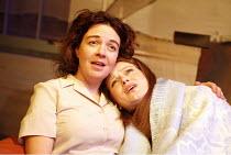 CARIAD   by Sophie Stanton   director: Ken Christiansen,l-r: Sophie Stanton (Blodwen), Rachel Sanders (Jayne),Tristan Bates Theatre, London WC2                               25/11/2005,