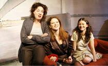 CARIAD   by Sophie Stanton   director: Ken Christiansen,l-r: Sophie Stanton (Blodwen), Rachel Sanders (Jayne), Becky John (Emily),Tristan Bates Theatre, London WC2                               25/11/...