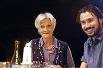 THE ARAB-ISRAELI COOKBOOK  by Robin Soans  design: Rachel Blues  directors: Rima Brihi & Tim Roseman <br>  Sheila Hancock (Vitya), Ben Turner (Liron),Gate Theatre, London W11                     10/0...