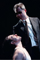 ATTEMPTS ON HER LIFE   by Martin Crimp   director: Tim Albery ~top: Howard Ward, below: Danny Cerqueira~Royal Court Theatre Upstairs (Ambassador's, WC2)  12/03/1997